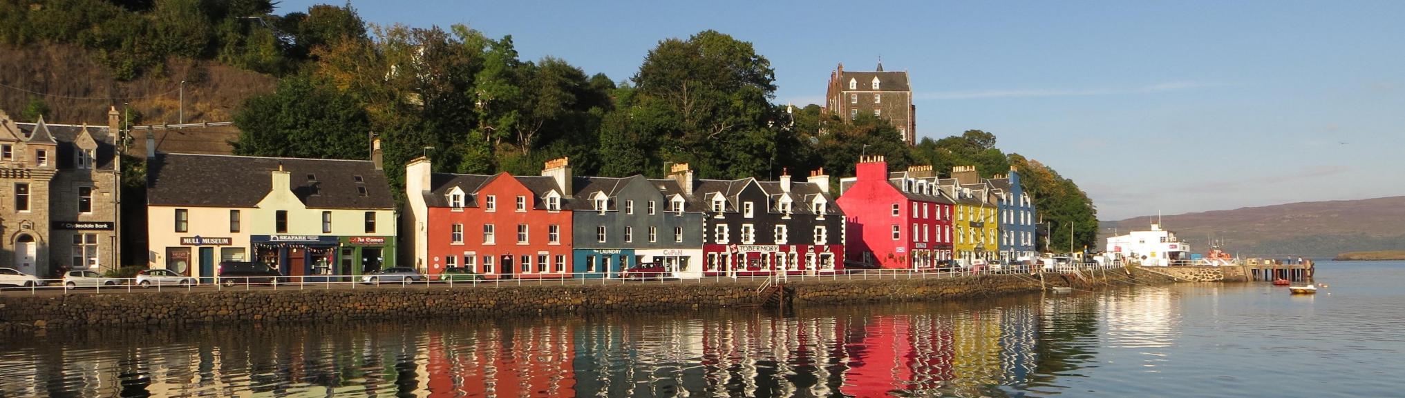 Gekleurde huisjes Mull, Binnen-Hebriden