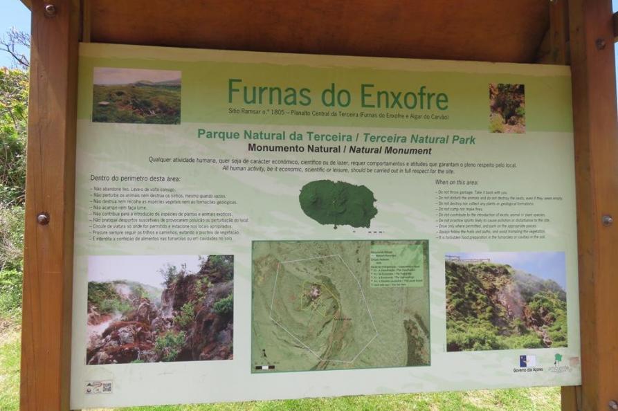 Furnas do Enxofre, Terceira