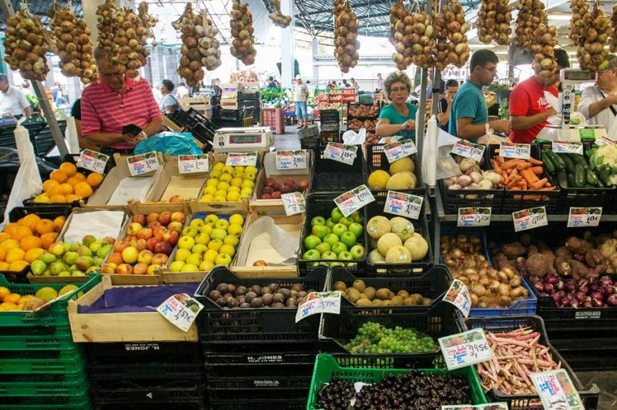 Ponta Delgada markt, Sao Miguel